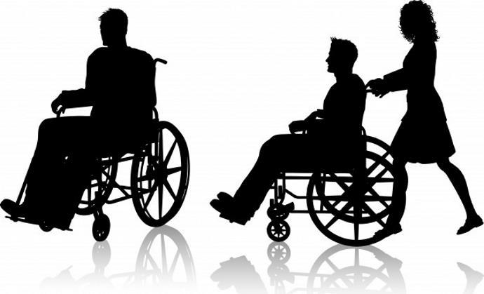 Osoby poruszające się na wózkach.