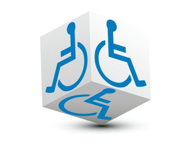 Sześcian z symbolem niepełnosprawności