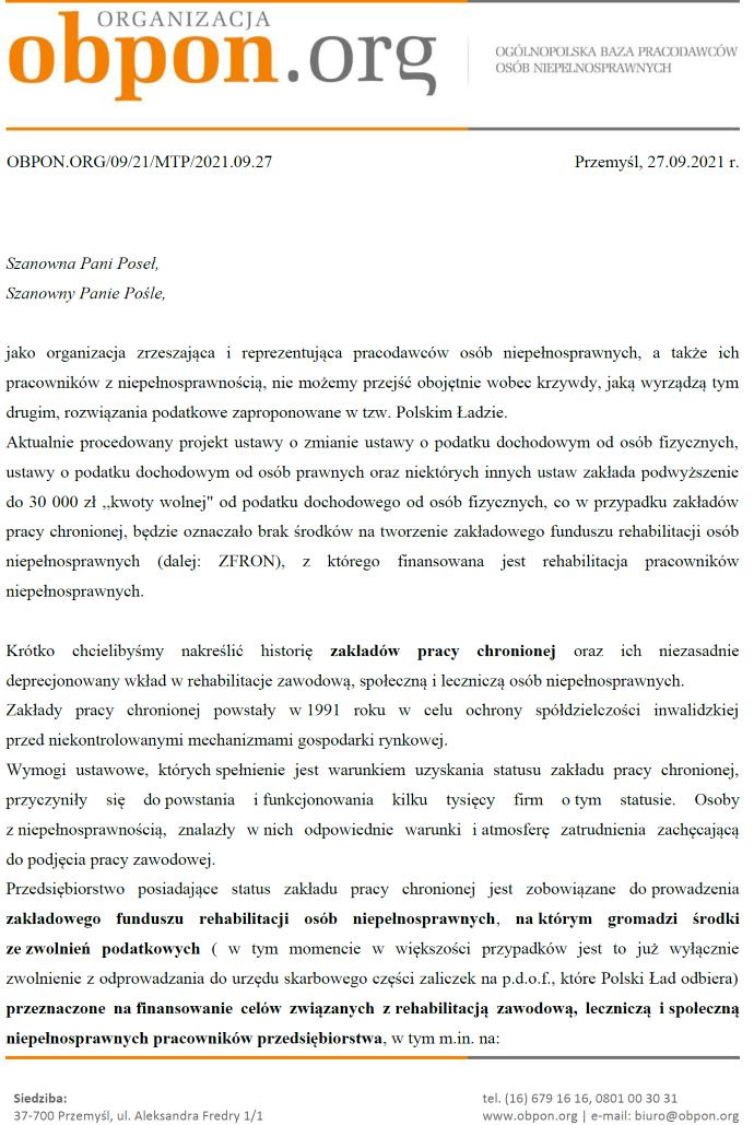 pierwsza strona dokumentu