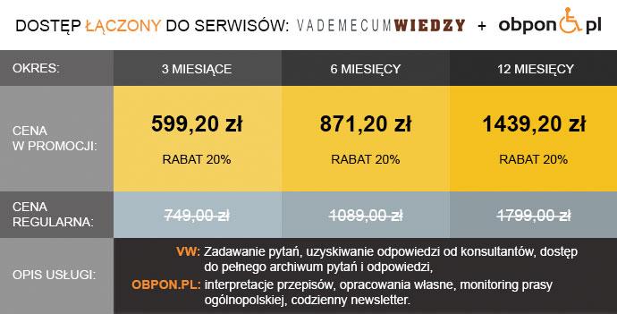 cennik Vademecum Wiedzy + Obpon.pl